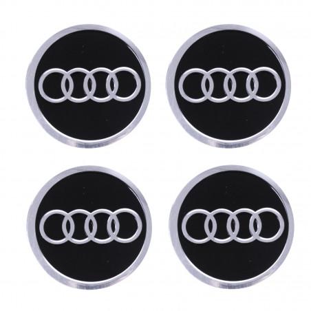 Наклейка на колпаки Audi Черный