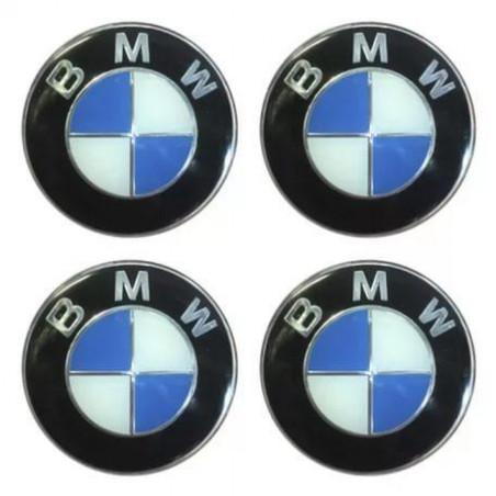 Наклейка на колпаки BMW Черн-синий