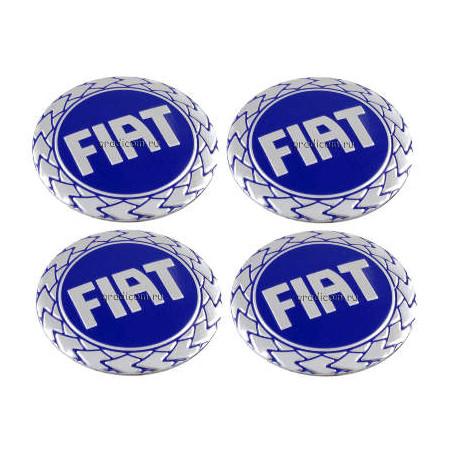 Наклейка на колпаки Fiat Cиний
