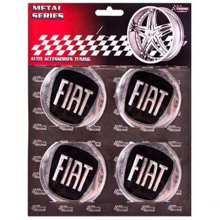 Наклейка на колпаки Fiat Черный