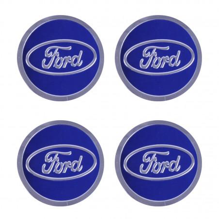 Наклейка на колпаки Ford Cиний
