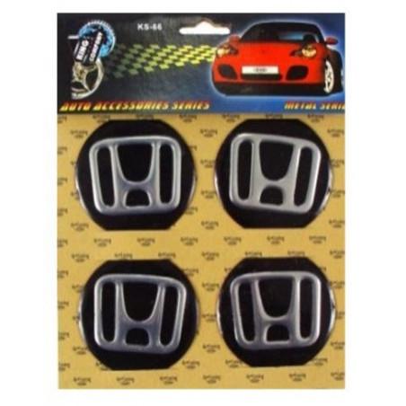 Наклейка на колпаки Honda Черный