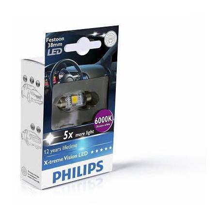LED лампа Philips Vision LED Festoon 129466000KX1 C5W 12V