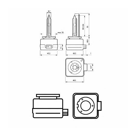 Ксеноновая лампа Philips D1S 4600K 35W